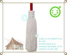 傳統式(竹柄)四步加大高級棉紗拖把